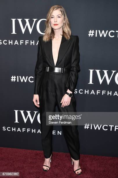 Rosamund Pike attends IWC Shaffhausen Fifth Annual For The Love of Cinema Gala Dinner at Spring Studios on April 20 2017 in New York City