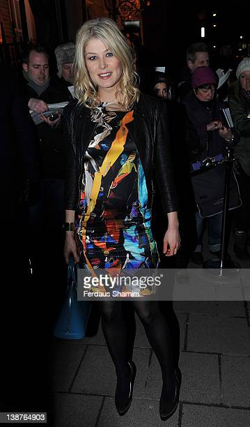 Rosamund Pike attends preBAFTA dinner hosted by Charles Finch and Chanel at Annabels on February 11 2012 in London England