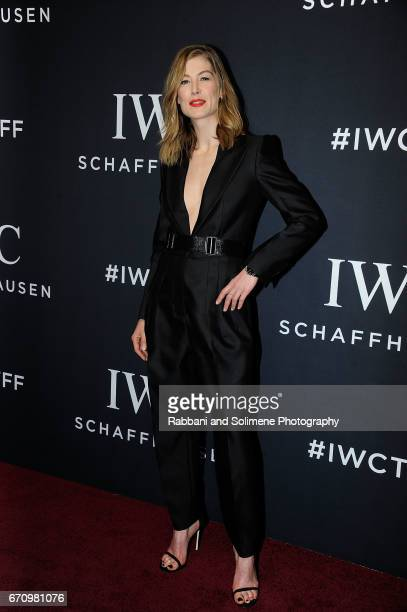Rosamund Pike attends the 2017 IWC Schaffhausen 'For The Love Of Cinema' Gala Dinnerat Spring Studios on April 20 2017 in New York City
