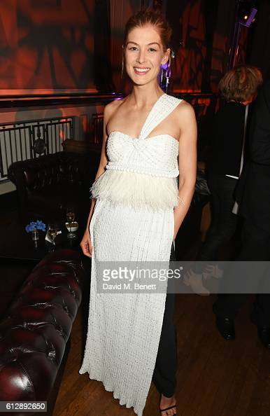 Rosamund Pike attends the 'A United Kingdom' Opening Night Gala after party during the 60th BFI London Film Festival at Victoria House on October 5...