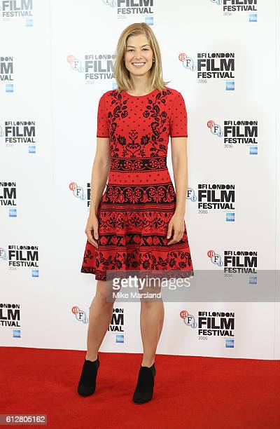 Rosamund Pike attends the 'A United Kingdom' Opening Night Gala screening during the 60th BFI London Film Festival at The Mayfair Hotel on October 5...
