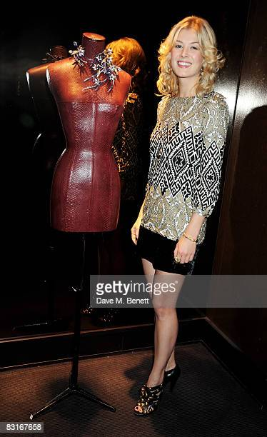 Rosamund Pike attends the Boucheron 150th Anniversary party at Boucheron on October 7 2008 in London England