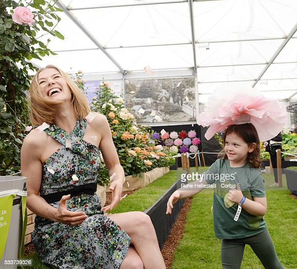 Rosamund Pike attends the Chelsea Flower Show on May 23 2016 in London England