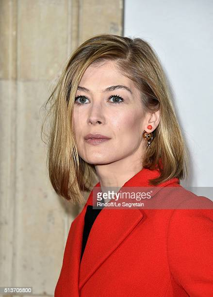 Rosamund Pike attends the Christian Dior show as part of the Paris Fashion Week Womenswear Fall/Winter 2016/2017 on March 4 2016 in Paris France