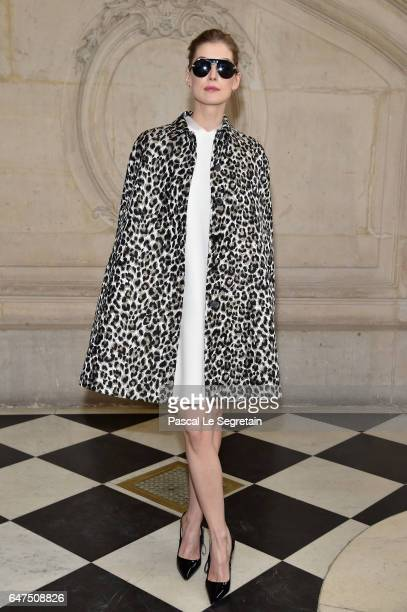 Rosamund Pike attends the Christian Dior show as part of the Paris Fashion Week Womenswear Fall/Winter 2017/2018 at Musee Rodin on March 3 2017 in...
