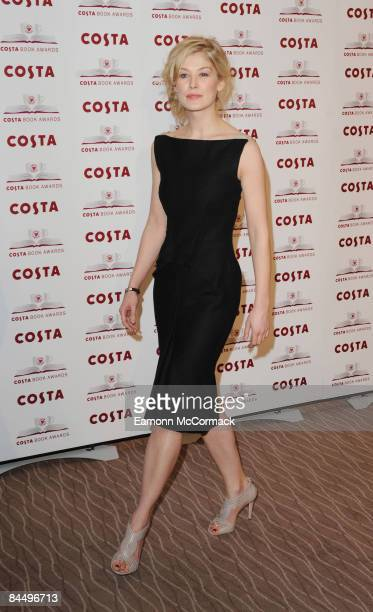 Rosamund Pike attends the Costa Book Awards at Intercontinental Hotel on January 27 2009 in London England