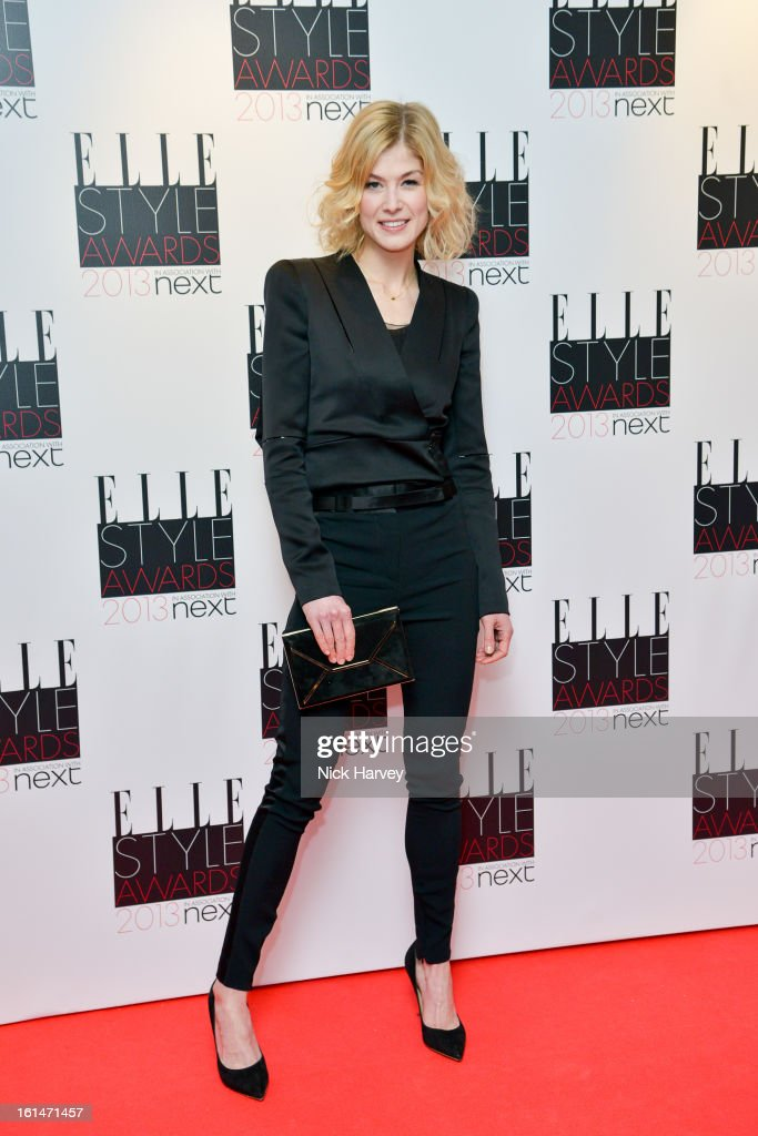 <a gi-track='captionPersonalityLinkClicked' href=/galleries/search?phrase=Rosamund+Pike&family=editorial&specificpeople=208910 ng-click='$event.stopPropagation()'>Rosamund Pike</a> attends the Elle Style Awards 2013 on February 11, 2013 in London, England.