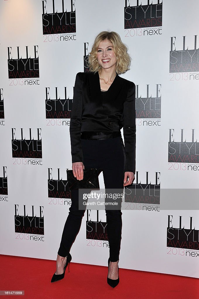 Rosamund Pike attends the Elle Style Awards at The Savoy Hotel on February 11, 2013 in London, England.