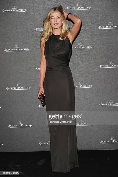 Rosamund Pike attends the JaegerLeCoultre Party at the Teatro alle Tese during the 67th Venice International Film Festival on September 6 2010 in...