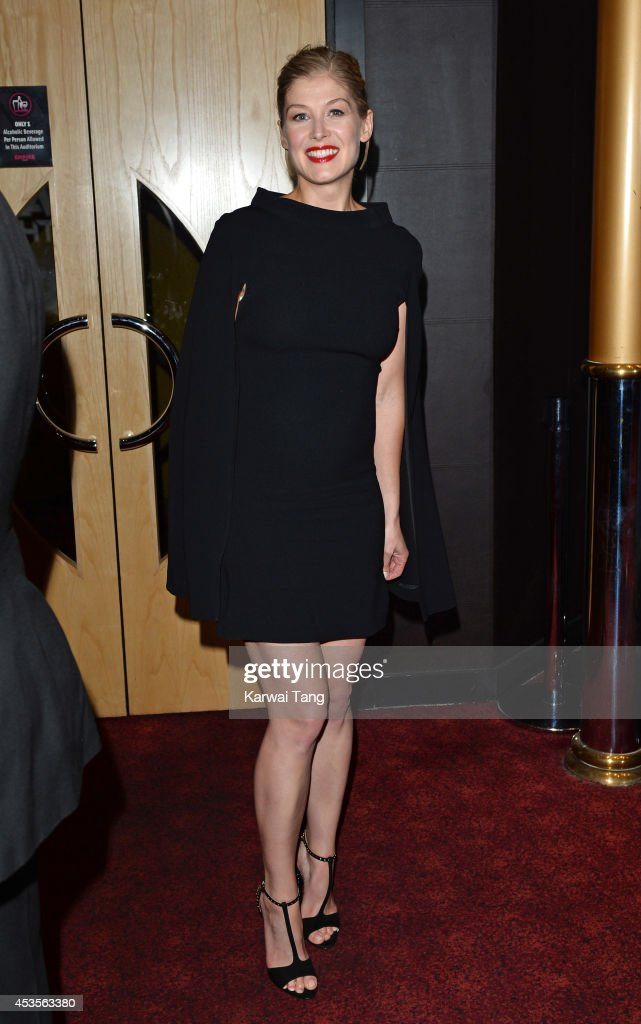 Rosamund Pike attends the UK Premiere of 'Hector And The Search For Happiness' at Empire Leicester Square on August 13, 2014 in London, England.