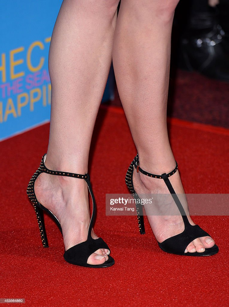 Rosamund Pike (Shoe detail) attends the UK Premiere of 'Hector And The Search For Happiness' at Empire Leicester Square on August 13, 2014 in London, England.