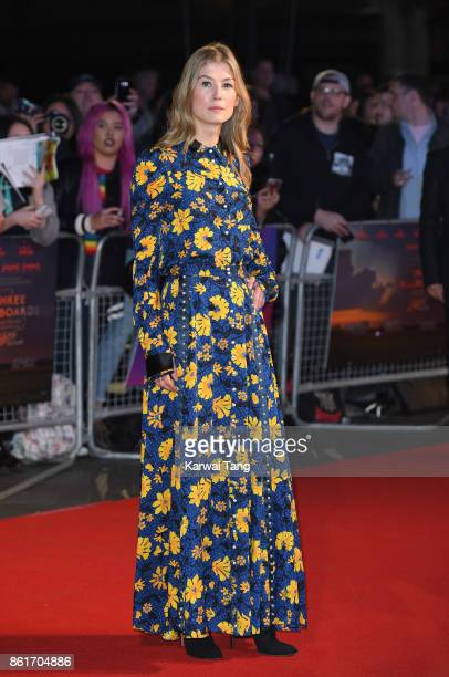Rosamund Pike attends the UK Premiere of 'Three Billboards Outside Ebbing Missouri' during the closing night gala of the 61st BFI London Film...