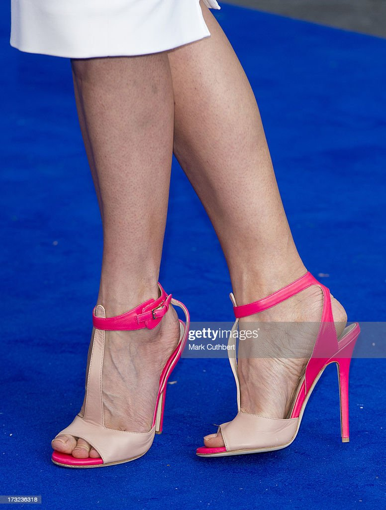 Rosamund Pike (shoe detail) attends the World Premiere of 'The World's End' at Empire Leicester Square on July 10, 2013 in London, England.