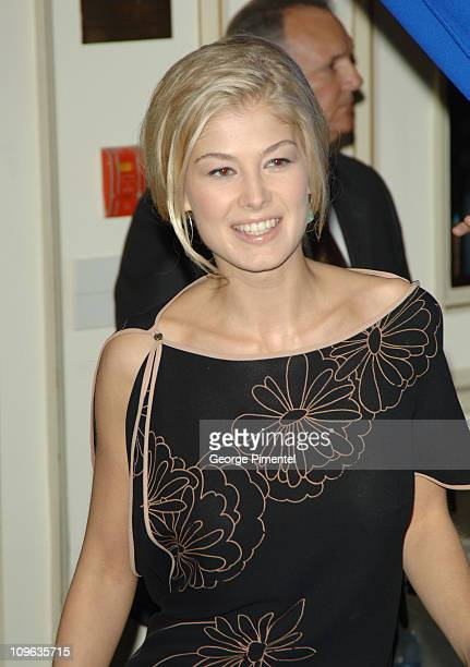 Rosamund Pike during 2005 Toronto Film Festival 'Pride and Prejudice' Press Conference at Sutton Place Hotel in Toronto Canada