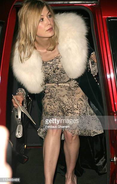 Rosamund Pike during Artists Independent Network's PreBAFTA Party at Annabel's in London Great Britain