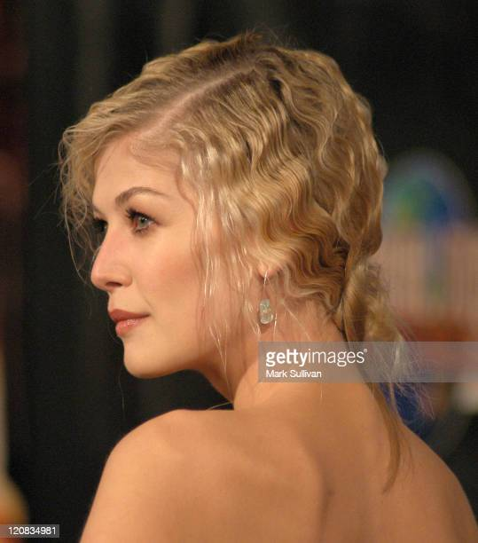 Rosamund Pike during 'Doom' Los Angeles Premiere Arrivals at Universal City Cinemas in Universal City California United States