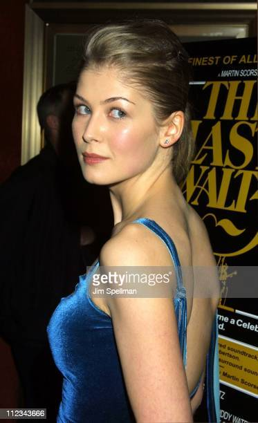 Rosamund Pike during New York Premiere Of 'The Last Waltz' Rerelease at The Ziegfeld Theatre in New York New York United States