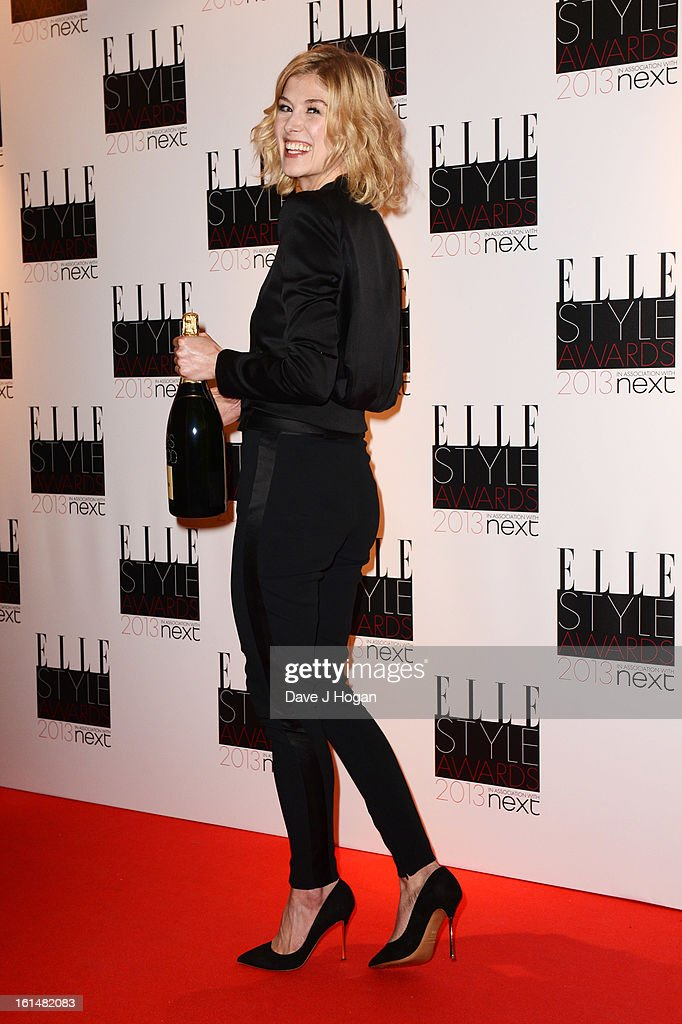 Rosamund Pike poses in the press room at The Elle Style Awards 2013 at The Savoy Hotel on February 11, 2013 in London, England.