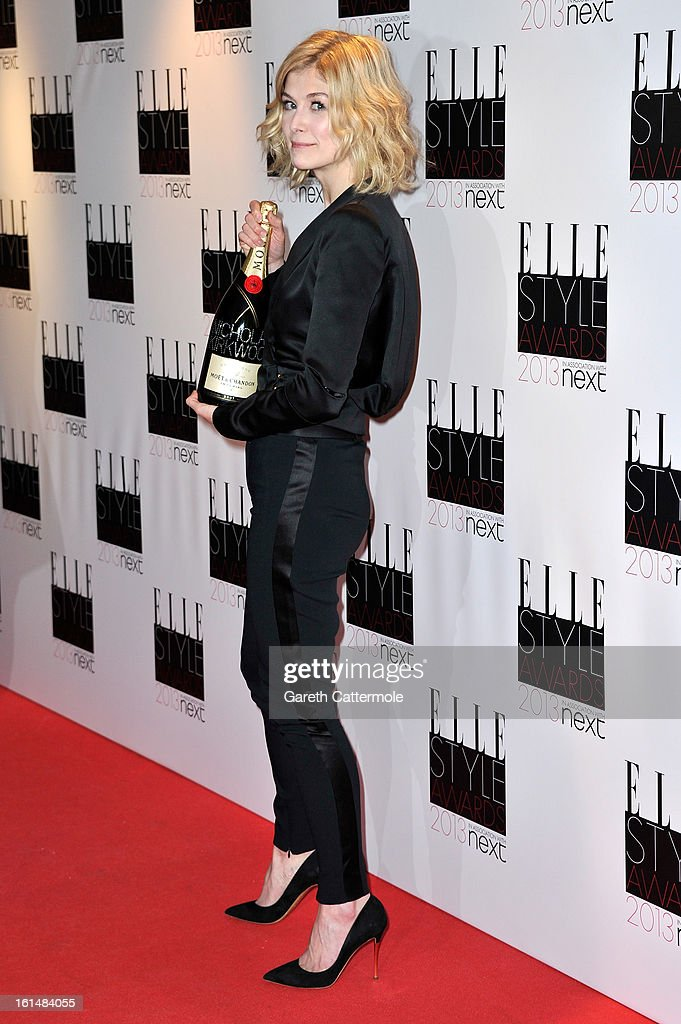 Rosamund Pike poses in the press room during the Elle Style Awards at The Savoy Hotel on February 11, 2013 in London, England.