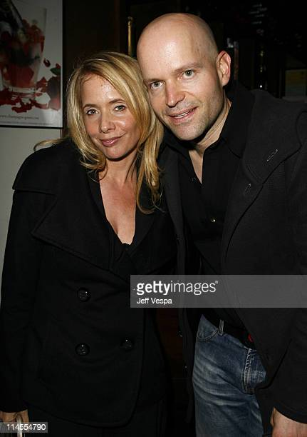 Rosanna Arquette and Marc Forster during Lisa Hoffman Launches her Night and Day 24 Hour Skincare Line Inside at APOTHIA at Fred Segal in West...