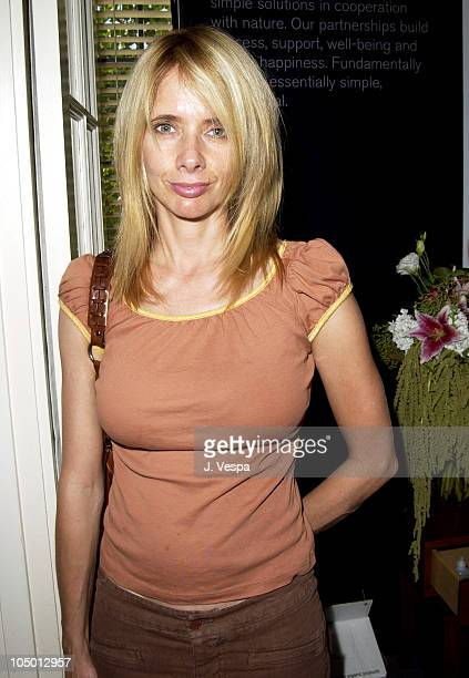 Rosanna Arquette and MOP during The Cabana Beauty Buffet Day 2 at The Chateau Marmont in Los Angeles California United States
