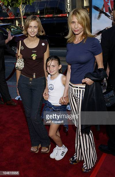 Rosanna Arquette daughter Zoe and friend during 'Eight Legged Freaks' World Premiere at Mann's Chinese Theater in Hollywood California United States
