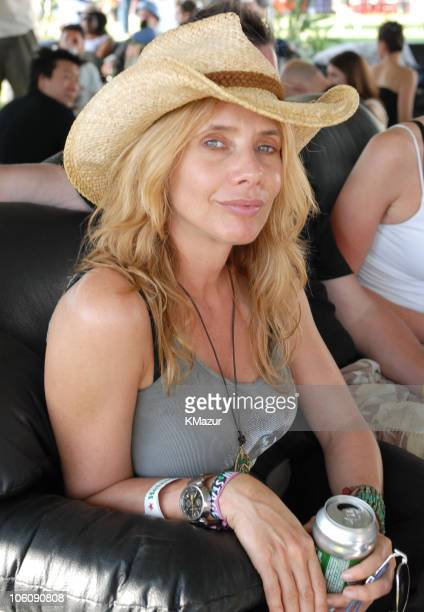 Rosanna Arquette during 2006 Coachella Valley Music and Arts Festival Day One Sightings at Empire Polo Field in Indio California United States