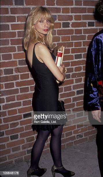 Rosanna Arquette during Sting After Party November 2 1991 at A and M Studios in Hollywood California United States
