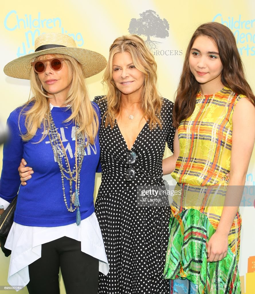 Rosanna Arquette, Lysa Hayland Heslov and Rowan Blanchard attend the Children Mending Hearts 9th Annual Empathy Rocks Fundraiser on June 11, 2017 in Beverly Hills, California.
