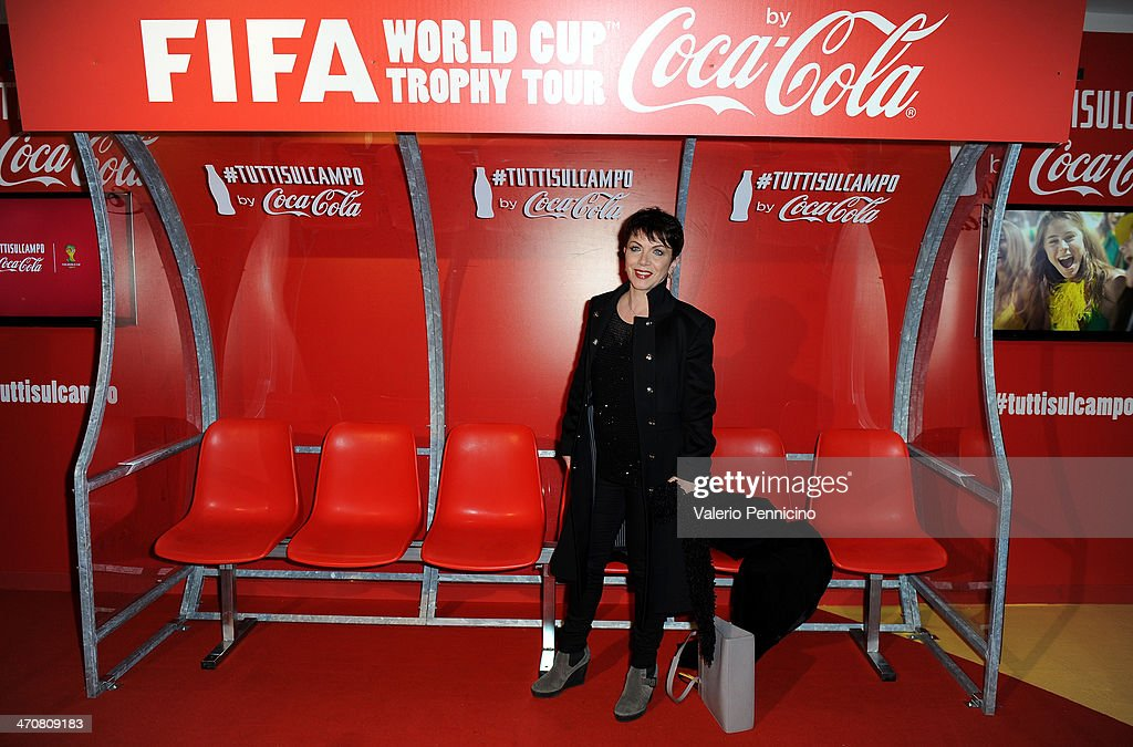 Rosanna Banfi attends a party during day two of the FIFA World Cup Trophy Tour on February 20, 2014 in Rome, Italy.