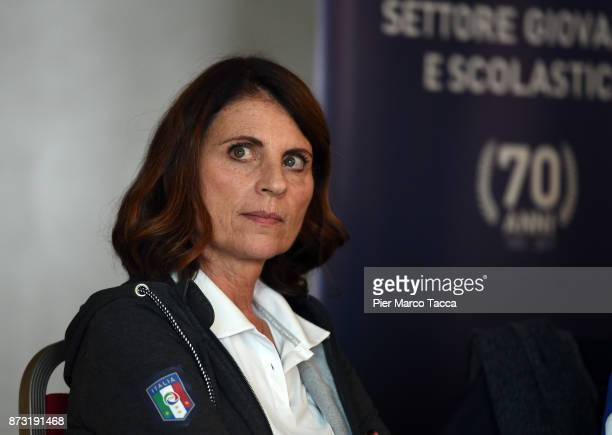 Rosanna D'Achille speaks during the Italian Football Federation SGS Meeting at the Ata Hotel on November 12 2017 in Milan Italy