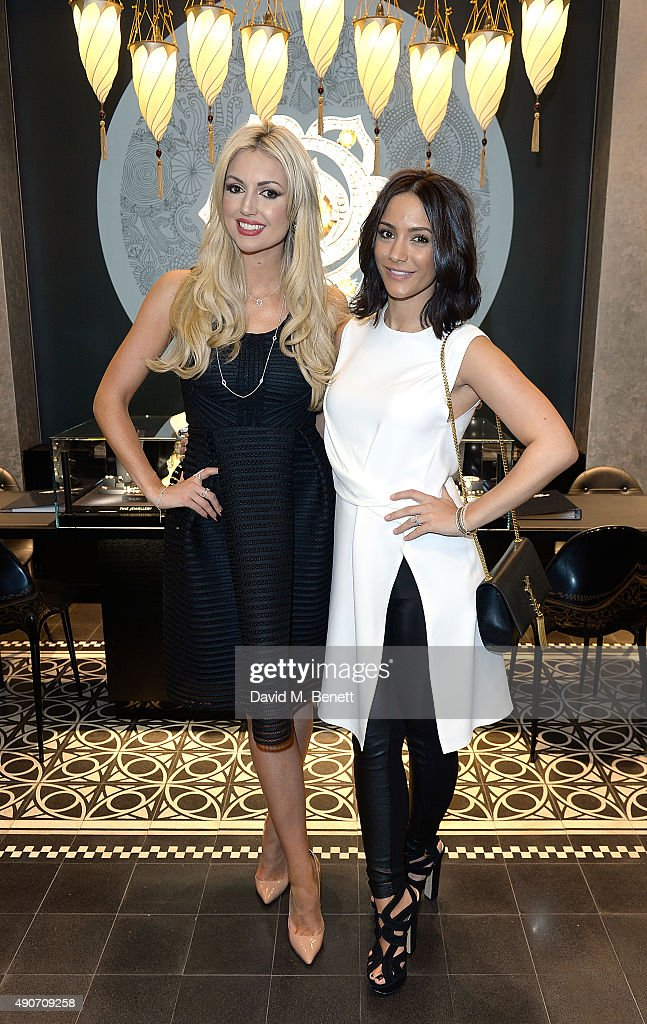 Rosanna Davison and Frankie Bridge attend the Thomas Sabo Professional Player Magazine Cocktail Collection Launch on September 30 2015 in London...
