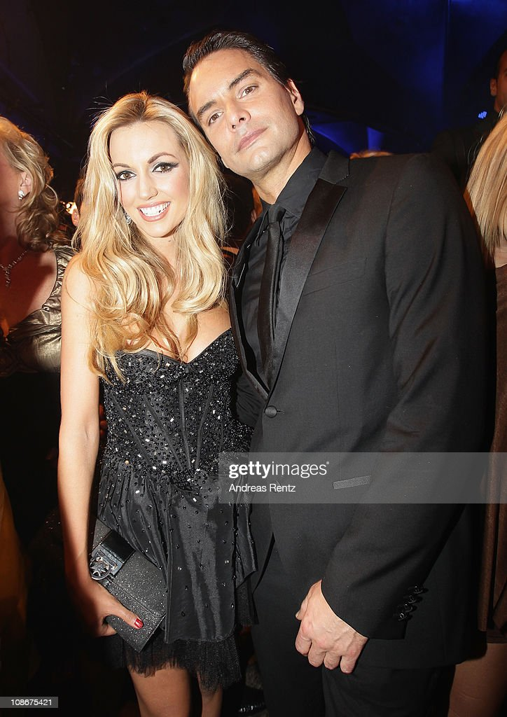 Rosanna Davison and Marcus Schenkenberg attend the Lambertz Monday Night 2011 Schoko Fashion party at the Alten Wartesaal on January 31 2011 in...
