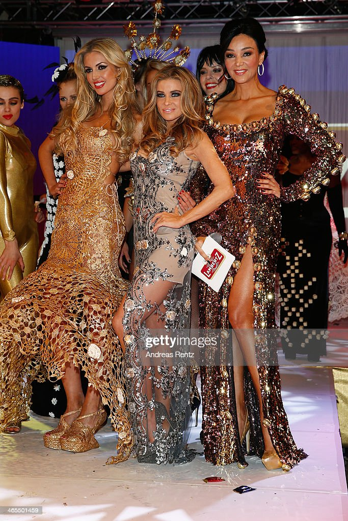 Rosanna Davison, Carmen Electra and Verona Pooth attend the Lambertz Monday Night at Alter Wartesaal on January 27, 2014 in Cologne, Germany.
