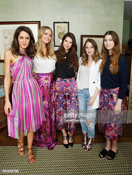 Rosanna Falconer Lady Kitty Spencer Sarah Ann Macklin Rosie Fortescue and Danielle Copperman attend the exclusive preview of the new USA Pro and...