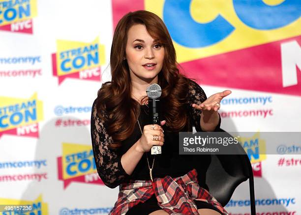 Rosanna Pansino speaks at Stream Con NYC 2015 on October 31 2015 in New York City