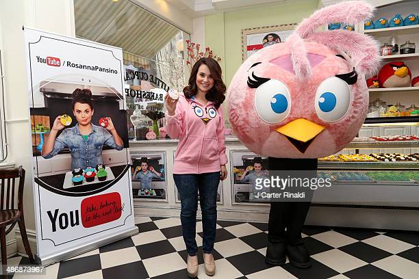 Rosanna Pansino Star of the Baking Channel on Youtube and Angry Birds Stella attend the Angry Birds Stella launch at Little Cupcake Bakeshop on April...
