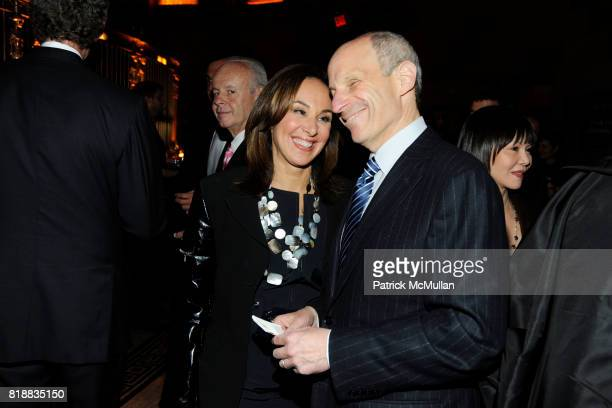 Rosanna Scotto and Jonathan Tisch attend THE WALL STREET JOURNAL's 'GREATER NEW YORK' Launch Celebration at Gotham Hall on April 26th 2010 in New...