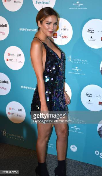 Rosanna Zanetti attends David Bisbal concert at the Royal Theatre on July 26 2017 in Madrid Spain