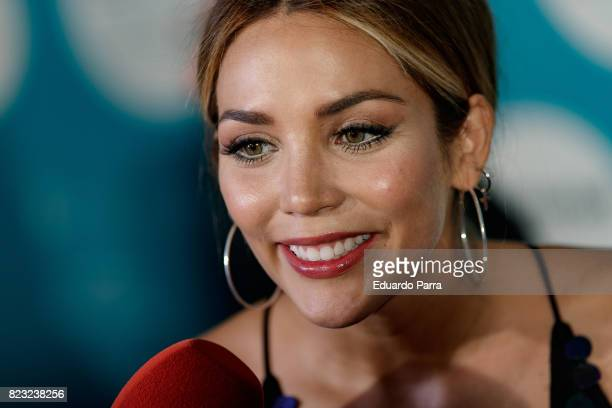 Rosanna Zanetti attends the David Bisbal concert photocall at Royal Theatre on July 26 2017 in Madrid Spain