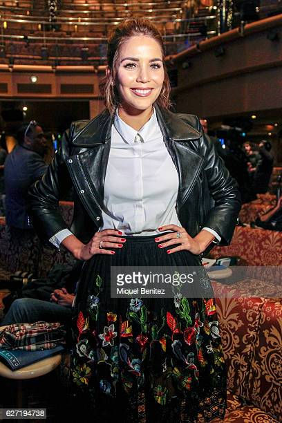 Rosanna Zanetti attends the presentation David Bisbal's new album 'Hijos del Mar' in a cruise ship on December 2 2016 in Barcelona Spain