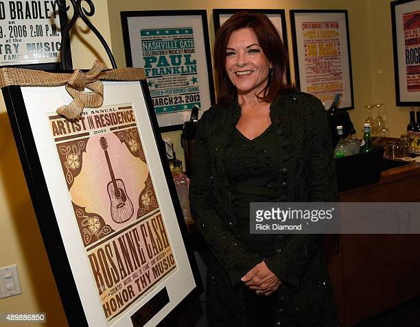Rosanne Cash and Special Guest John Leventhal backstage During Her Final ArtistinResidence Show At The Country Music Hall Of Fame And Museum on...