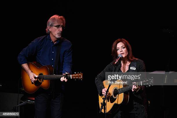 Rosanne Cash and Special Guest John Leventhal perform During Her Final ArtistinResidence Show At The Country Music Hall Of Fame And Museum on...