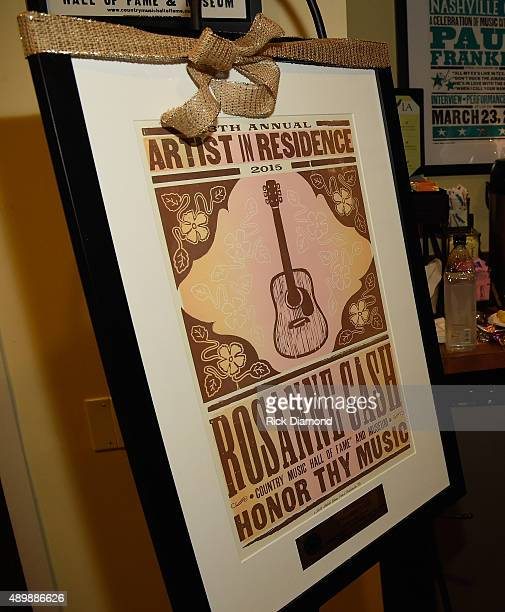 Rosanne Cash and Special Guest John Leventhal performs During Her Final ArtistinResidence Show At The Country Music Hall Of Fame And Museum on...