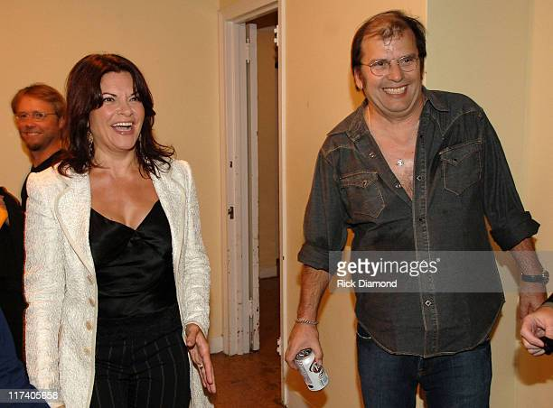 Rosanne Cash and Steve Earle during CMT CROSSROADS Steve Earle and Rosanne Cash Taping Airing September 15 2006 at Manhattan Center @ The Grand...