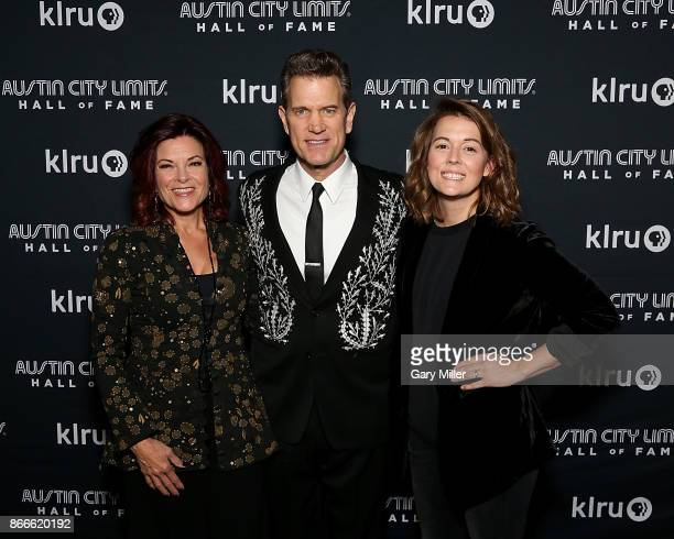 Rosanne Cash Chris Isaak and Brandi Carlile attend the Austin City Limits 2017 Hall of Fame Inductions at ACL Live on October 25 2017 in Austin Texas
