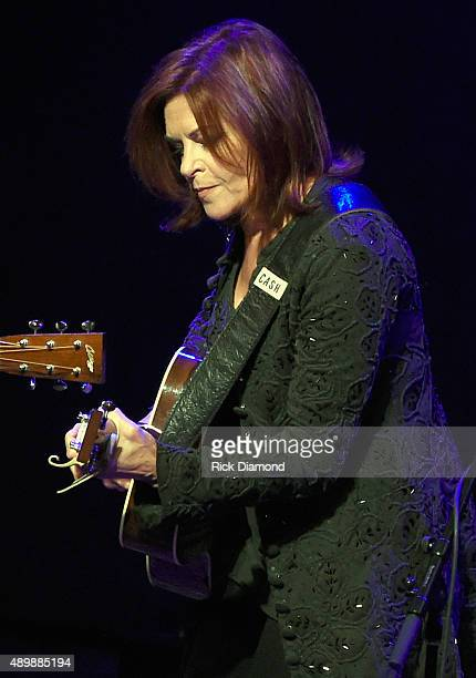 Rosanne Cash performs During Her Final ArtistinResidence Show At The Country Music Hall Of Fame And Museum on September 24 2015 in Nashville Tennessee