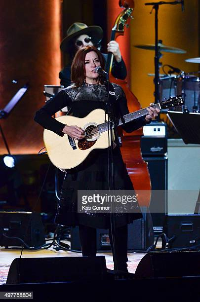 Rosanne Cash performs during the 2015 Gershwin Prize Honoree's Tribute Concert Honoring Willie Nelson at DAR Constitution Hall in Washington DC on...