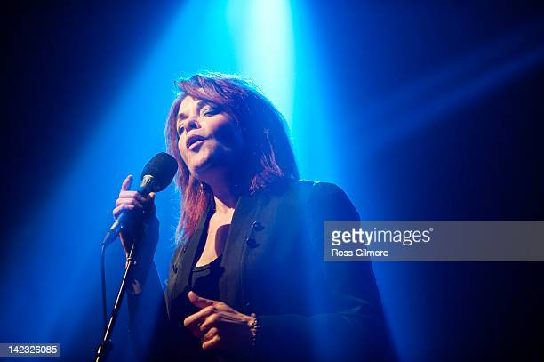 Rosanne Cash performs on stage at Big Top on March 24 2012 in Broadford Isle of Skye United Kingdom