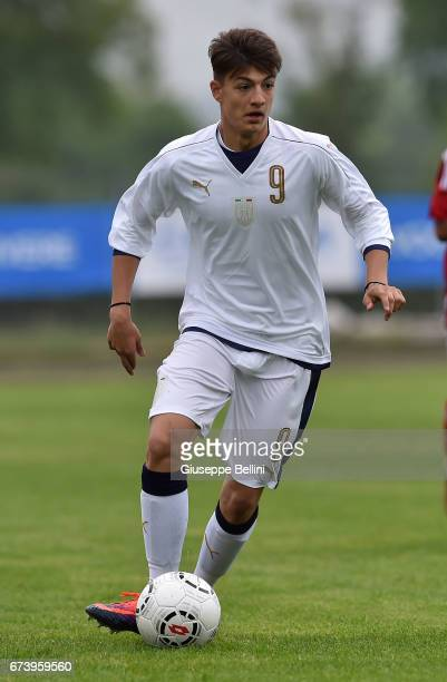 Rosario Cancello of Italy U15 in action during the Torneo delle Nazioni match between Italy U15 and UAE U15 on April 27 2017 in Gradisca d'Isonzo...